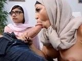 Madre e hija musulmanas se follan a un joven con un pollon