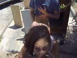 Follamos a mi prima en la calle porque se puso cachonda
