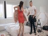Es tan golfa Dana DeArmond, follando con este pintor..