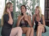 Tres casadas viciosas se follan juntos a un veinteañero