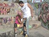 Yaiza Del Mar se folla a David El Moreno en un parque público